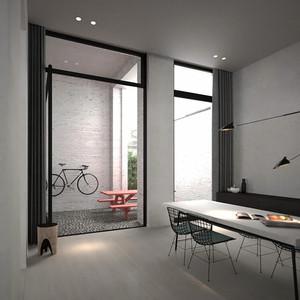 139平米现代简约风格复式楼室内装修效果图