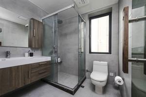 8平米现代风格卫生间淋浴房装修效果图