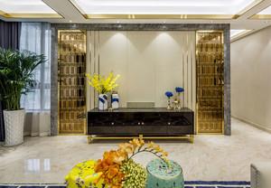 新中式风格古典奢华客厅电视背景墙效果图
