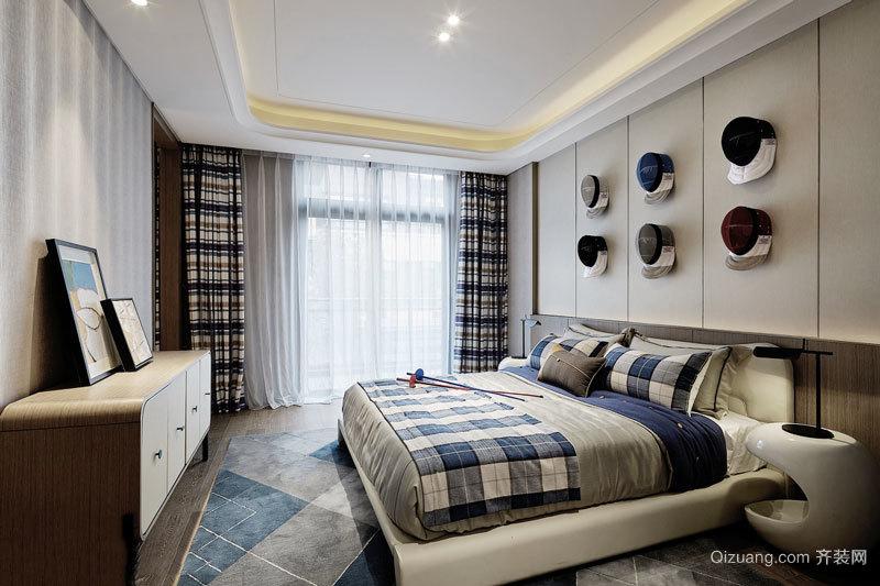 宜家风格简约温馨朴素卧室背景墙装修效果图