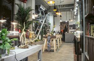 北欧风格时尚文艺咖啡厅设计装修效果图