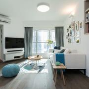 北欧风格简约清新大户型客厅装修效果图赏析