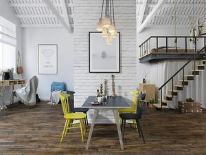 66平米北欧风格时尚loft装修效果图赏析