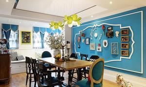 地中海风格精美餐厅背景墙装修效果图欣赏