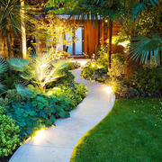 东南亚风格精美别墅花园设计装修效果图欣赏