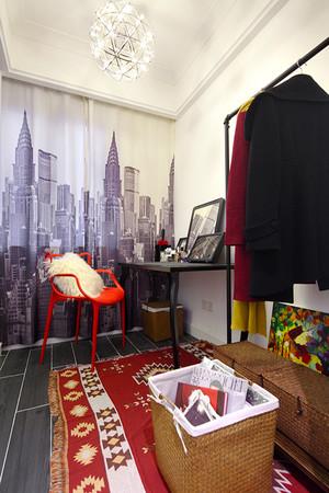 127平米简约美式风格三室两厅室内装修效果图案例
