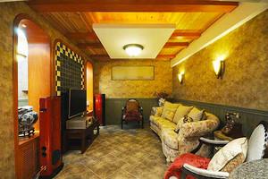 210平米美式田园风格精致复式楼室内装修效果图