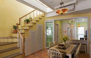 欧式田园风格复式楼梯装修效果图欣赏