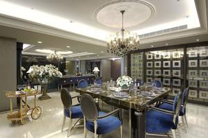 新古典主义风格大户型精致餐厅装修实景图鉴赏