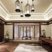 中式风格精致别墅豪华书房装修效果图鉴赏