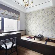 中式风格古典精致榻榻米装修效果图