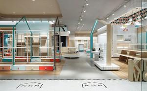 160平米简约风格时尚超市室内装修效果图