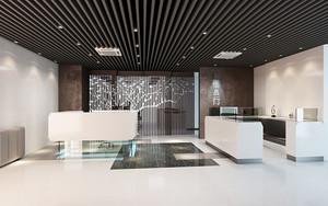 现代简约风格个性办公室前台装修效果图