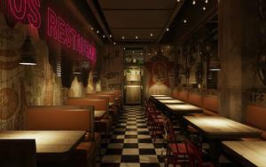 美式风格主题餐厅装修效果图鉴赏