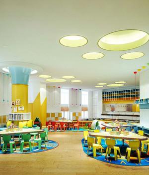 60平米现代简约风格幼儿园教室效果图