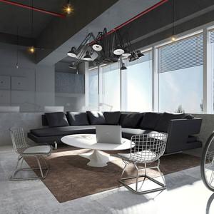 现代风格办公室休息室装修效果图