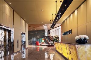 现代风格精致酒店前台设计装修效果图赏析