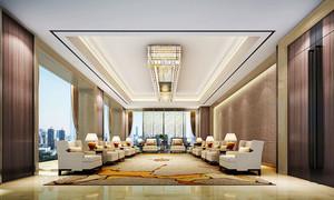 中式风格典雅精致酒店会客厅装修效果图