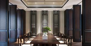 90平米中式风格精致茶楼装修效果图