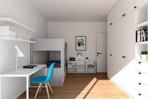 67平米现代风格精致一居室装修效果图案例