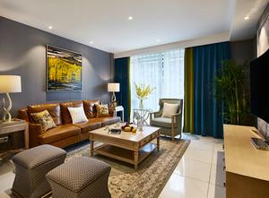 98平米混搭风格精致两室两厅室内装修效果图案例