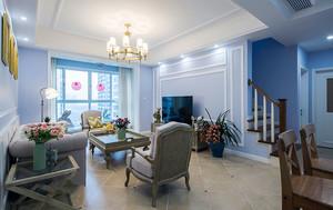 106平米简约法式风格精致两室两厅室内装修效果图