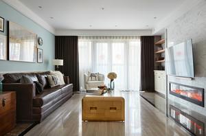 122平米美式风格精美三室两厅两卫装修效果图赏析