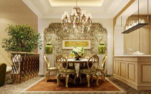 120平米欧式田园风格温馨室内装修效果图案例
