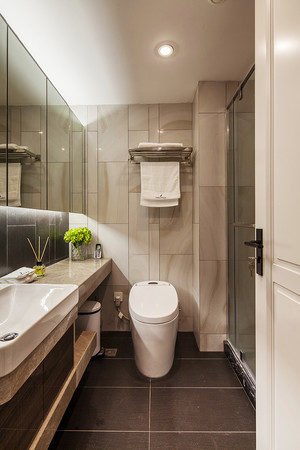 160平米现代风格精致复式楼室内装修效果图