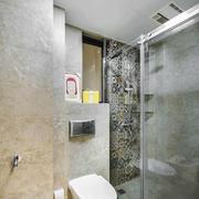 8平米现代风格简约卫生间淋浴房装修效果图