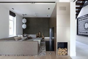 240平米现代风格精致跃层设计装修效果图案例