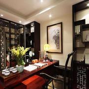 中式风格精致典雅书房设计装修效果图
