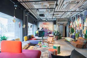 70平米混搭风格时尚咖啡厅设计装修效果图