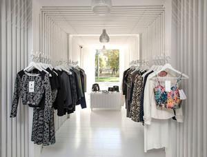 简约风格时尚小型精品服装店装修效果图