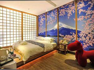 日式风格简约宾馆客房设计装修效果图赏析