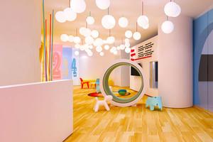 现代简约风格时尚幼儿园教室装修效果图