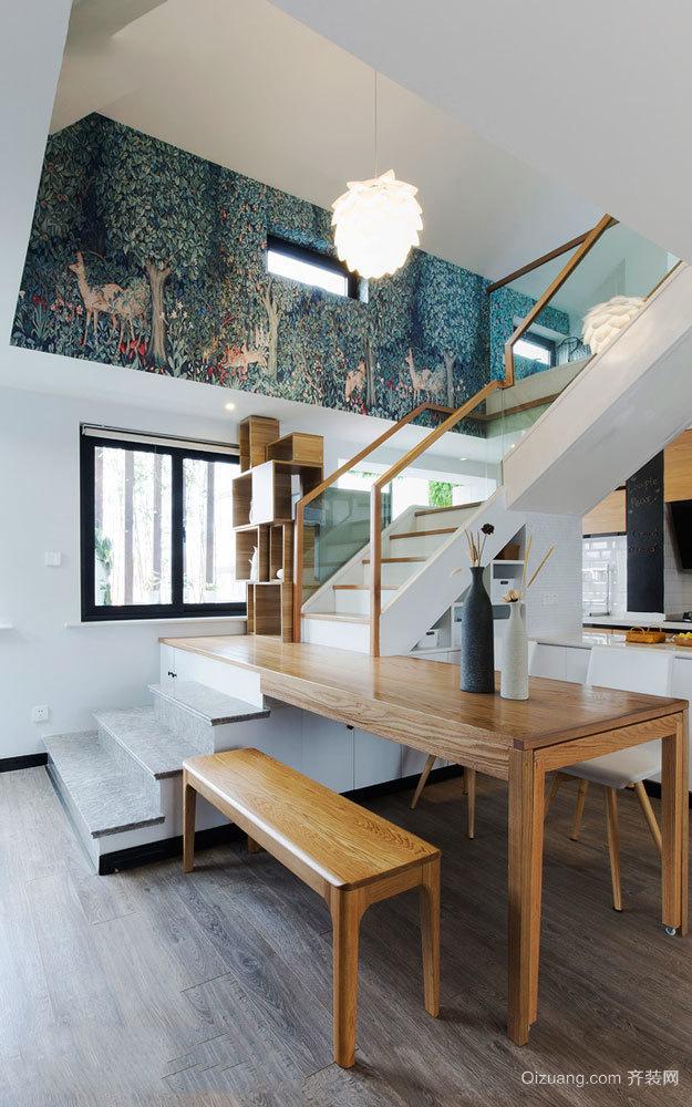 北欧风格清新文艺楼梯设计装修效果图赏析
