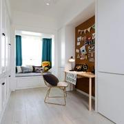 北欧风格简约白色书房装修效果图赏析
