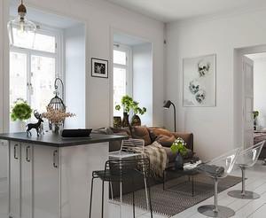 北欧风格简约温馨一居室室内装修效果图案例