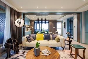 128平米混搭风格时尚四室两厅室内装修效果图