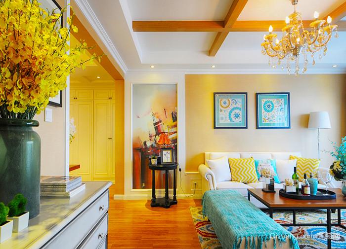 116平米欧式风格精美三室两厅室内装修效果图案例