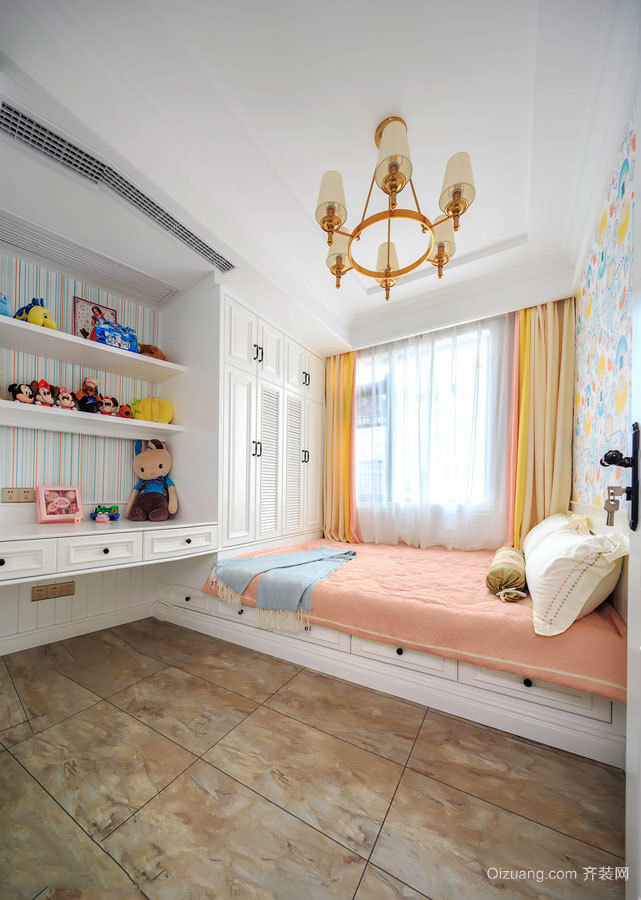 欧式风格甜美儿童房榻榻米装修效果图赏析