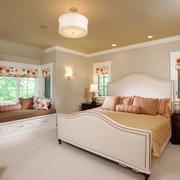 欧式风格室内精美卧室飘窗设计装修效果图