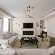 现代风格浅色温馨客厅装修效果图赏析
