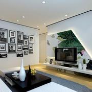 现代风格时尚创意客厅电视背景墙装修效果图