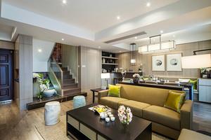 180平米新中式风格精美复式楼室内装修效果图案例