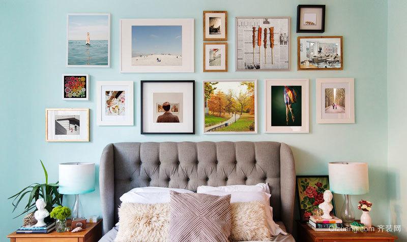 清新风格时尚创意照片墙装修效果图赏析