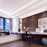 中式风格典雅精致书房榻榻米装修效果图赏析
