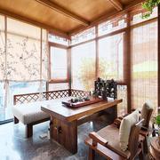 中式风格古典精致阳台设计装修效果图赏析