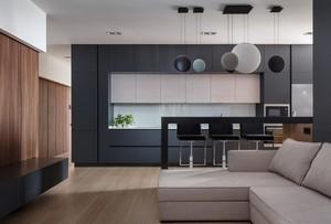 64平米现代风格精装单身公寓装修效果图赏析